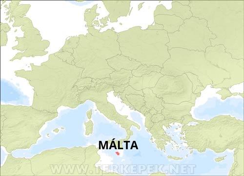 málta térkép Málta domborzati térképe